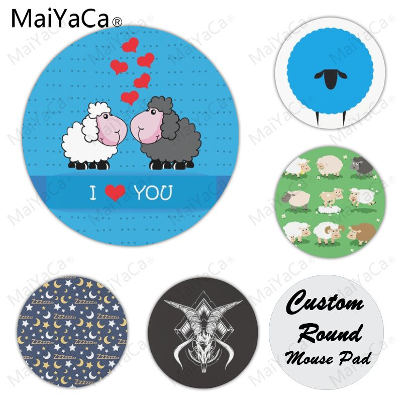 MaiYaCa Sheep Time to Sleep High Speed New Mousepad Size for 22X22cm Round Gaming Mousepads