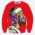 2016 Известный Звезда толстовка Мода 3d Печати Пуловер Для унисекс Случайный сексуальный футболка топы Одежда