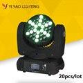 20 шт./лот 36x3 Вт RGBW Луч движущаяся голова LED сценическое освещение для DJ вечеринки Дискотека ночной клуб бар