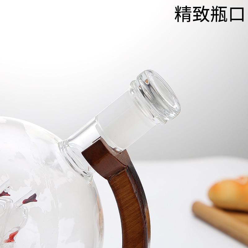 Globe ขวดไวน์ครัวเรือนตกแต่งแฟชั่นขวดไวน์แก้วที่ว่างเปล่าขวด art ขวดไวน์-ใน ที่ตวงสำหรับบาร์ จาก บ้านและสวน บน   2