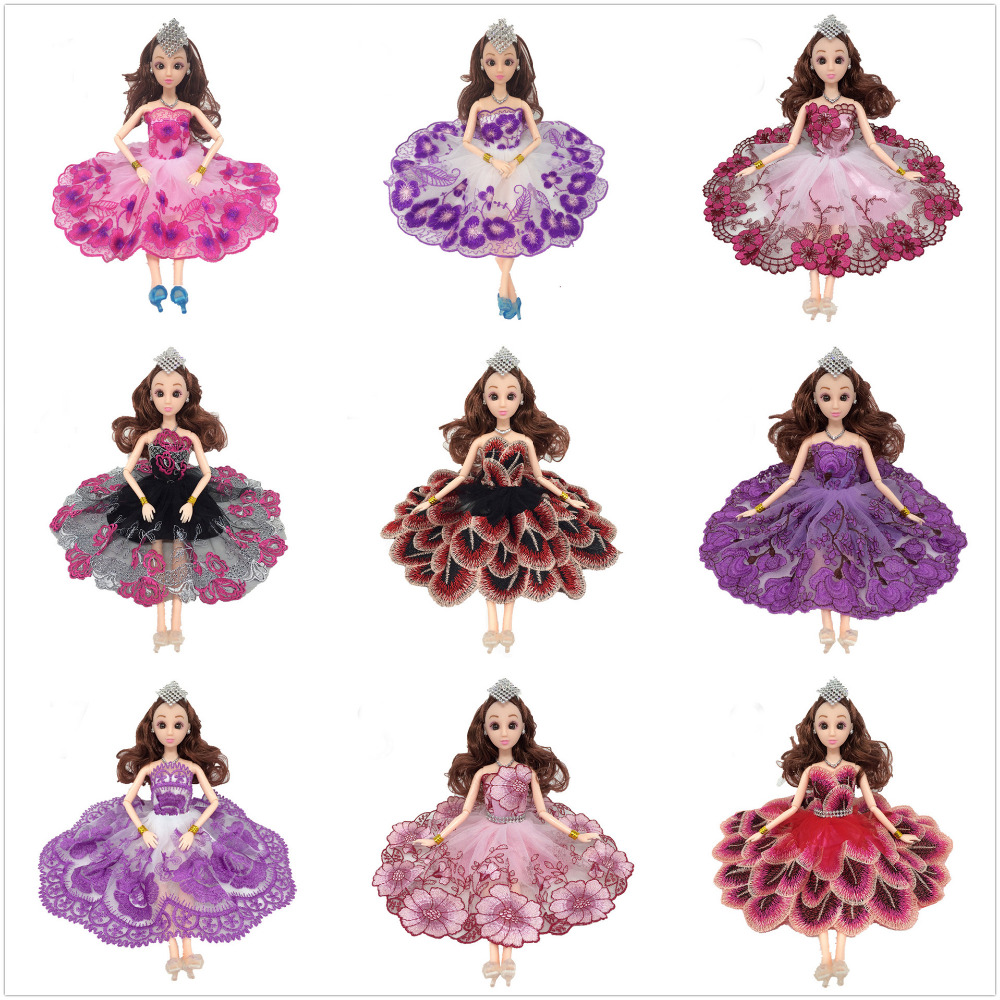 NK 2018 One Pcs Handmade Princess Wedding Dress Noble Party Gown For Barbie Doll  Fashion Design cd3a7d1c88ab
