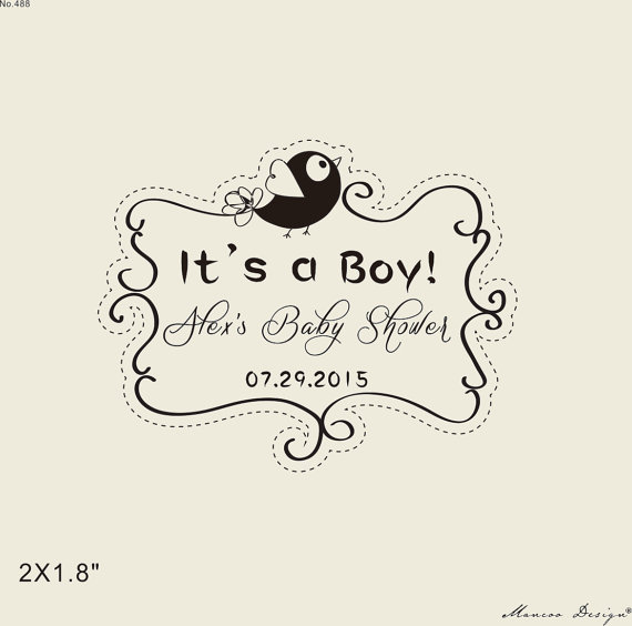 Aliexpress Buy It S A Boy Custom Stamps Baby Shower Stamp 2