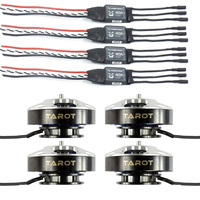 4pcs TAROT 5008 340KV Motor TL96020 with 4pcs Hobbywing XRotor 40A Brushless ESC for DIY RC Drone Quadcopter