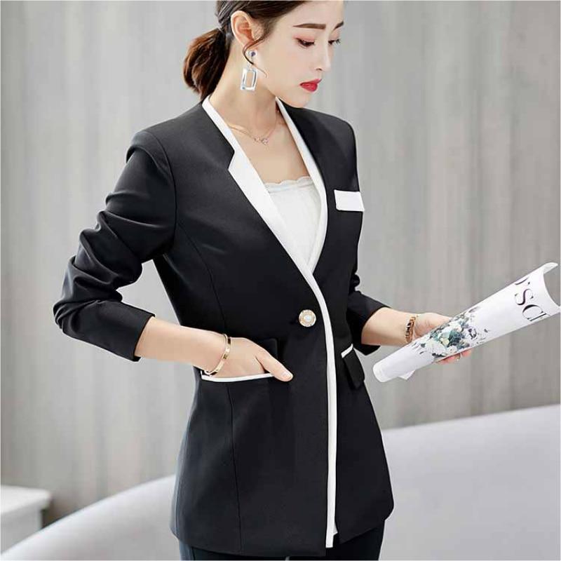 spring autumn new short Wild small suit women's Korean suit women Slim Mixed colors long-sleeved slim female coat blazer femme
