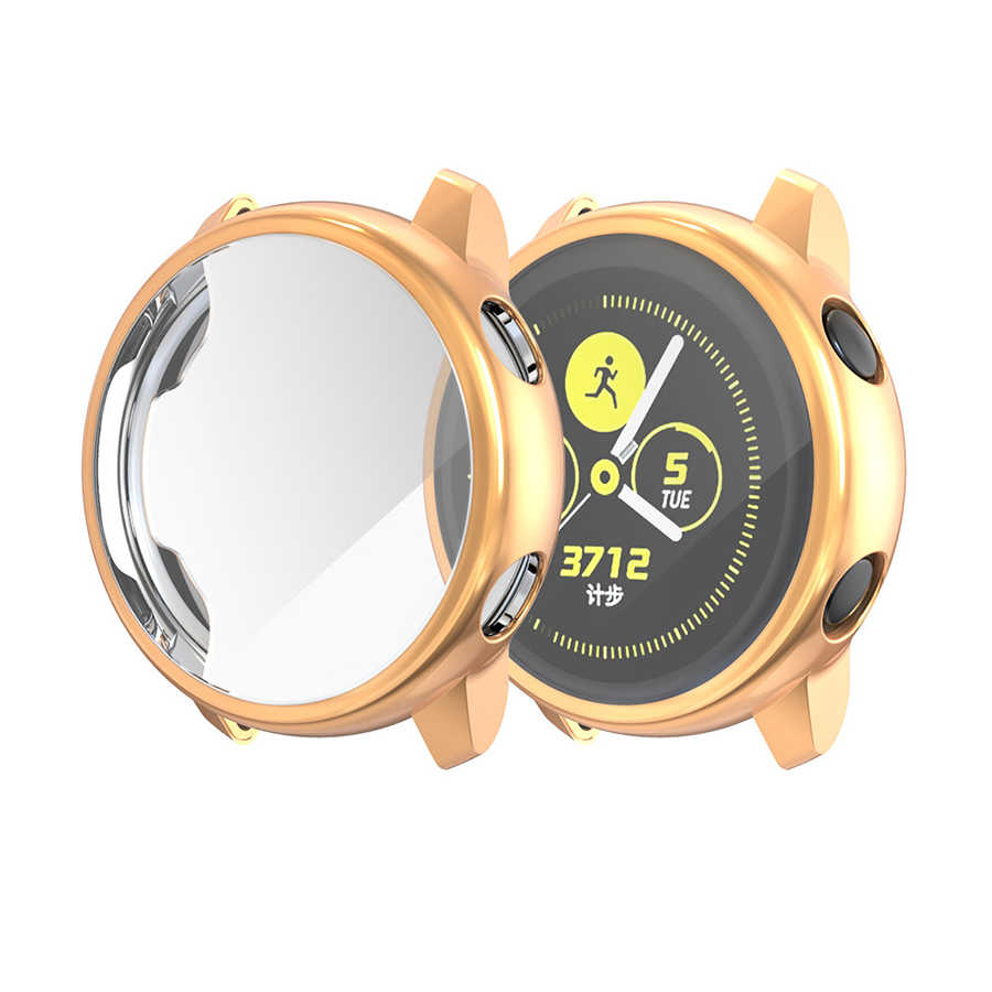 Protection étui pour samsung Galaxy Watch Active Doux Placage TPU de Coque Cadre Protecteur pour Galaxie Active 40mm