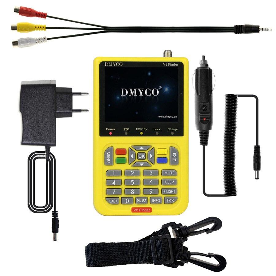 DMYCO v8 finder 3.5 inch LCD digital satFinder DVB-S2 sathero MPEG-2 MPEG-4 Receptor satellite Decoder Finder satlink freesat v8 finder dvb s2 digital finder 3 5 inch lcd mpeg 2 mpeg4 compliant digital satfinder vs satellite finder satlink ws6906