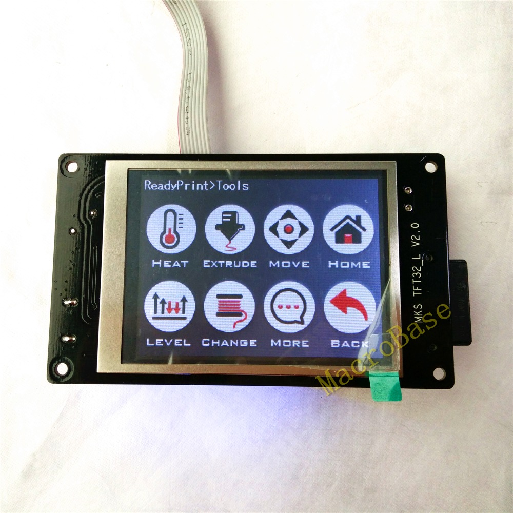 ФОТО MKS TFT32 touch screen 3D Printer splash lcds smart controller display RepRap TFT monitor support wifi/BT