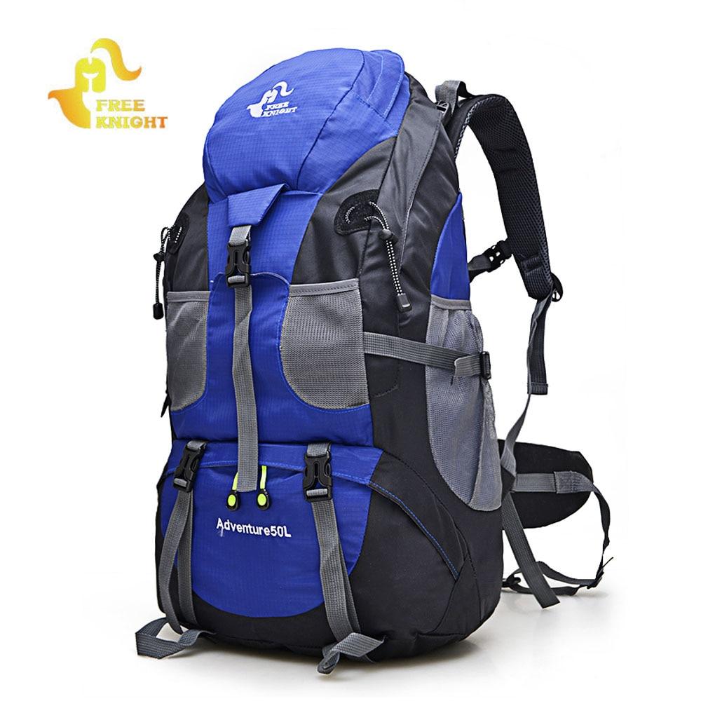 El caballero libre escalada mochila 50L impermeable al aire libre mochila ciclismo mochila de senderismo Trekking Camping bolsa montaña mochila