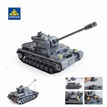 Кази большой Panzer IV бак 1193 шт. строительные блоки в стиле милитари конструктор Набор Развивающие игрушки для детей Совместимые