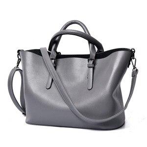 Новинка 2019, сумка для матери, трендовая кожаная сумка 2 шт./компл., большая сумка, портативные сумки, Европейская и американская простая сумка...