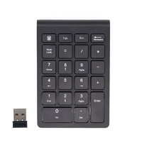 무선 숫자 키패드 numpad 18 키 디지털 키보드 회계 텔러 노트북 노트북 태블릿 용 소형 2.4 ghz