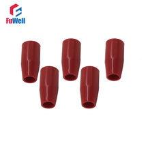 5 pçs manga longa botão m6/m8/m10/m12/m16 rosca máquina ferramenta substituição baquelite manga vermelha alavanca