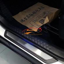car sticker for toyota c-hr chr accessories 2016 2018 door sill trim scuff plate guard pedal cover car styling with logo 4pcs