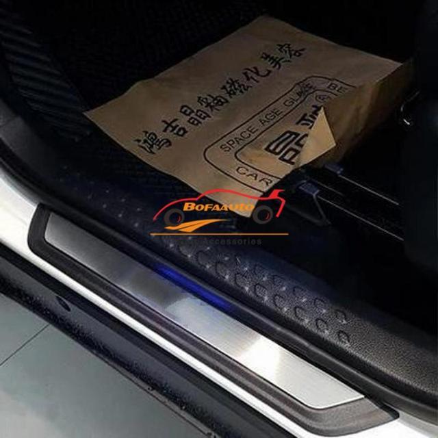 Car sticker for toyota c hr chr accessories 2016 2018 door sill trim scuff plate