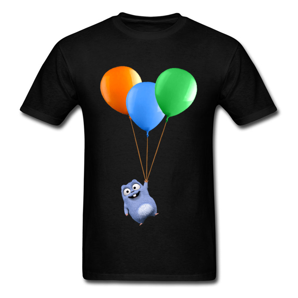 Colorful Balloon T Shirts Naughty Lemming Cute Animal T-Shirts For Men Youth Man Love Anime Tshirt Boy Spring Free Delivery