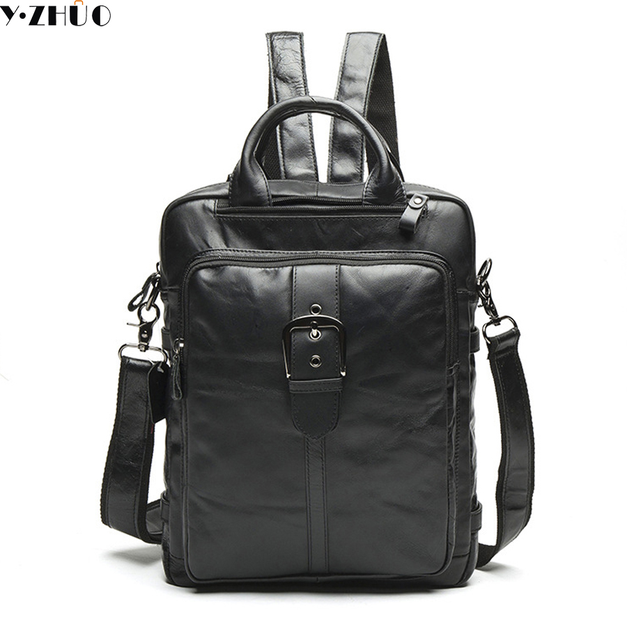 14 genuine leather man backpacks really cowhide men travel luggage bags designer double shoulder bag mochila school bag men s genuine leather double shoulder backpacks real cowhide leather backpack for men brand bags man multi fuctional bag