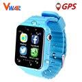 V7k impermeable niños gps smart watch hijos seguros anti-perdida relojes monitor con cámara/facebook sos dispositivo de localización de llamadas tracker