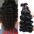 Малазийский Свободная Волна Девственные Волосы 4 Шт. Лот Человеческих Волос Weave Связки Класс 8А Необработанные Девственные Волосы Свободная Волна Малайзии волос