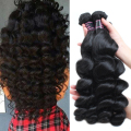 Malaysian Loose Wave Virgin Hair 4Pcs Lot Human Hair Weave Bundles Grade 8A Unprocessed Virgin Hair Loose Wave Malaysian Hair