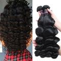 Malaysian Loose Wave Virgin Hair 4Pcs Lot Human Hair Weave Bundles Grade 8A Unprocessed Virgin Hair Loose Wave Malaysian Hair