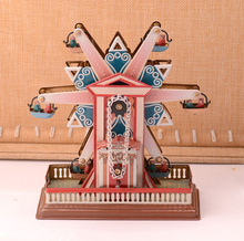 Retro Ferris Wheel Tinplate Clockwork Collections Vintage Tin Wind Up Toys Classic Handmade Crafts