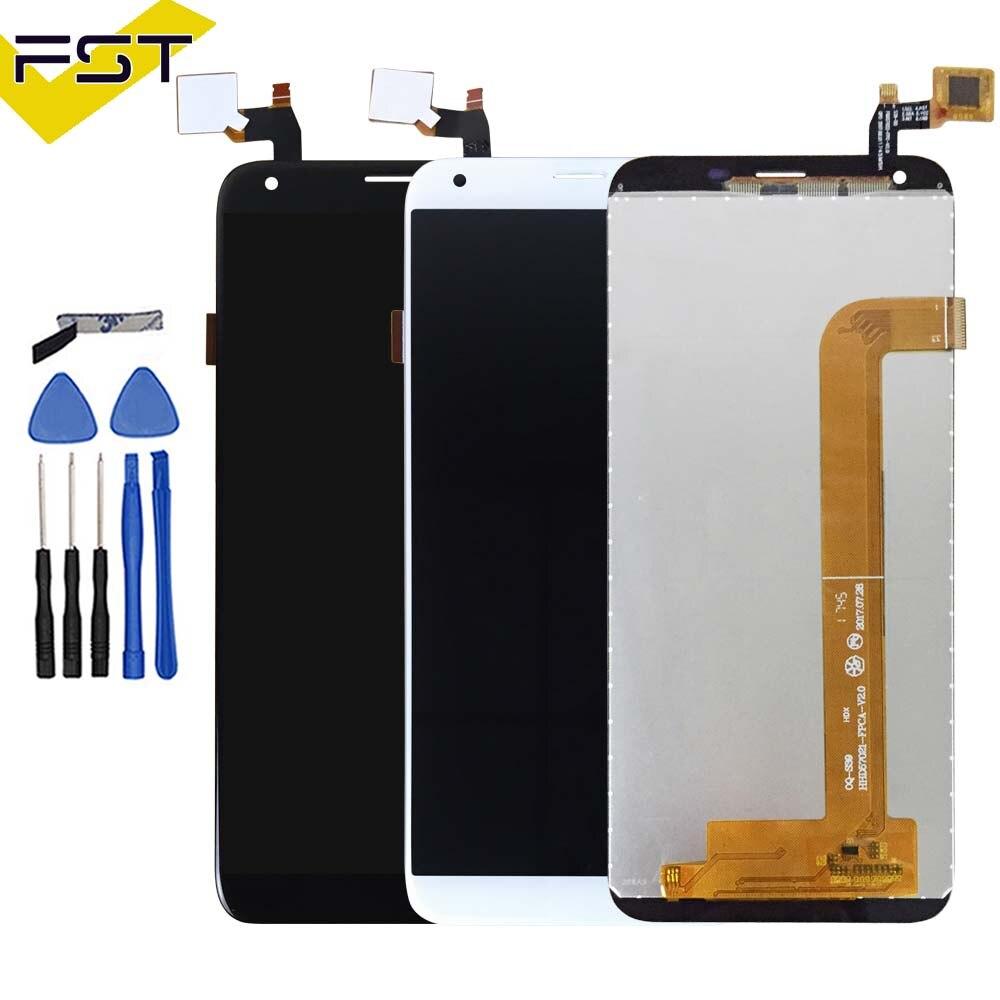 Negro/blanco para Oukitel K5 pantalla LCD + pantalla táctil piezas de reparación de la Asamblea del digitizador de la pantalla + herramientas + adhesivo panel de cristal del LCD