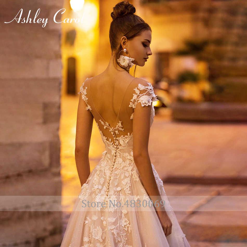 Эшли Кэрол сексуальный v-образный вырез с открытыми плечами свадебное платье с открытой спиной 2019 Новый развертки Поезд платья для матери невесты свадебное платье с аппликацией