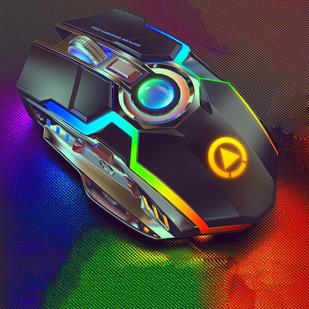 Image 4 - Wireless Gaming Mouse Rechargeable Gaming Mouse Silent Ergonomic 7  Keys RGB Backlit 1600 DPI mouse for Laptop Computer Pro Gamer-in Mice  from Computer
