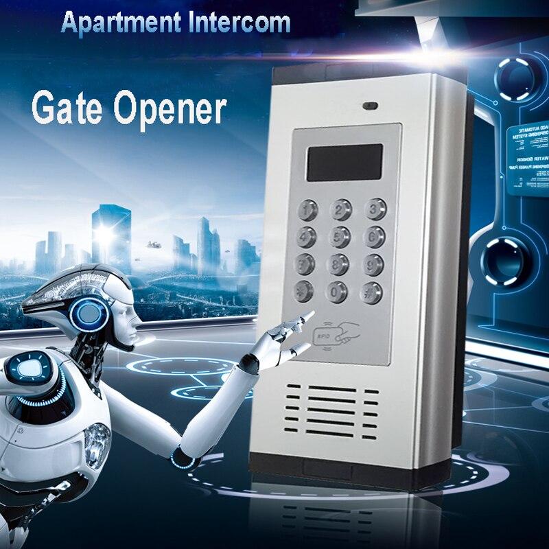 GSM система контроля доступа ворота дверь открытая сигнализация ЖК экран 1000 авторизованный номер открывания двери поддержка RFID карты SMS ТЕКСТ K6