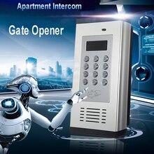 Gsm porta de controle acesso sistema de alarme aberto tela lcd 1000 número autorizado porta abridor apoio rfid cartão sms texto k6