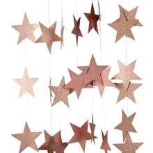 4M 7cm Paper Garland Star Shape String Banners Baby Shower Bunting Hanging Paper Happy Birthday Wedding Party Home Decoration