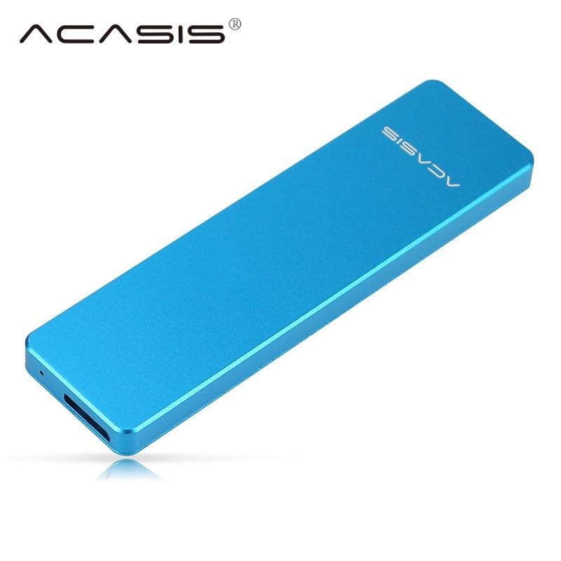 Acasis FA-2423 Boîtier SSD Disque Dur Cas pour M2 NGFF M.2 SSD Cas pour Externe SSD USB 3.0 Cas 2242/2260/2280