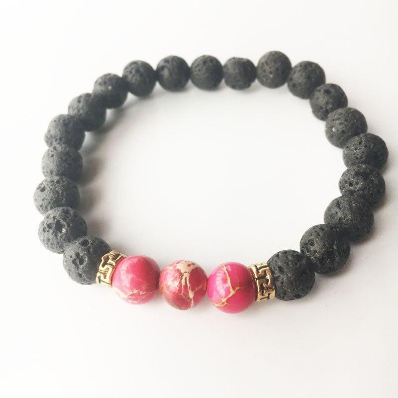 11 Styles Yoga Natural Stone Bracelets for Women Lava Beads Men Bracelet Male Braslet Femme Pulseira Turkish Jewelry