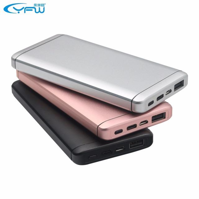 Yfw quick charge 3.0 qc 3.0 banco do poder 10000 mah rápido carregamento carregador portátil de bateria externa com o tipo-c e micro usb saída