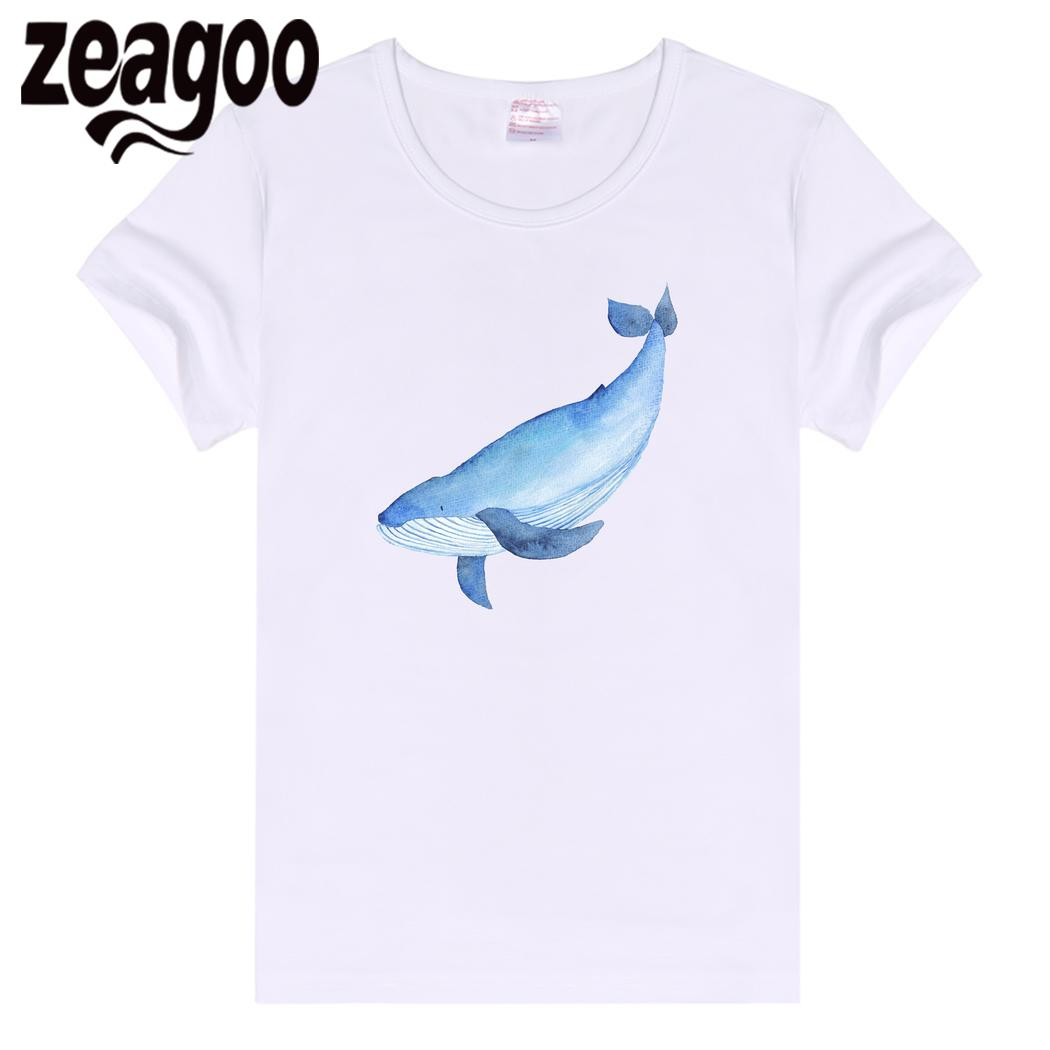 zeagoo Sleeve Casual Basic Plain Crew Neck Slim Fit Soft Short Women T-Shirt White Whale