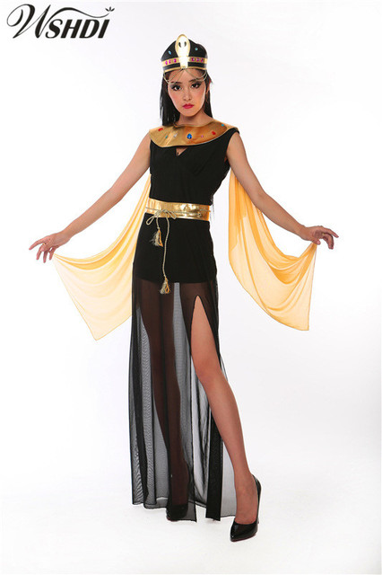 3c6701c5441c 2018 High Quality Cleopatra Costumes Sexy Egyptian Queen clothing Greek  Goddess Cosplay Party Dress Adult Halloween for Women