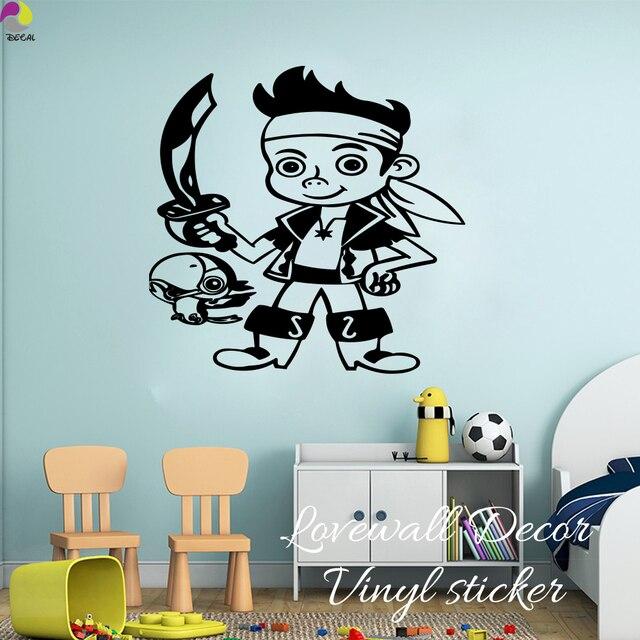 Muurstickers Kinderkamer Piraat.Cartoon Piraat Zwaarden Muursticker Jongen Babykamer Piraat Wapen