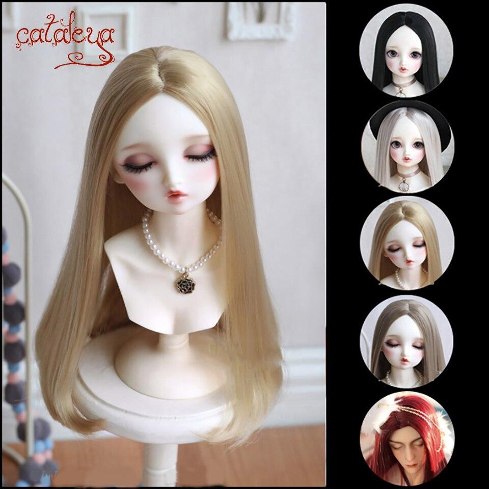 Cataleya longo cabelo da flor de pêra 1/3 1/4 1/6 1/8 BJD peruca boneca com fio de alta temperatura