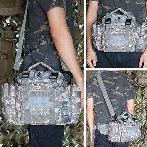 Image 5 - Taktyczna wojskowa torba na biodro Molle torba sportowa na ramię wodoodporna Oxford Camping Travel turystyka Trekking kamuflaż torby XA739WA