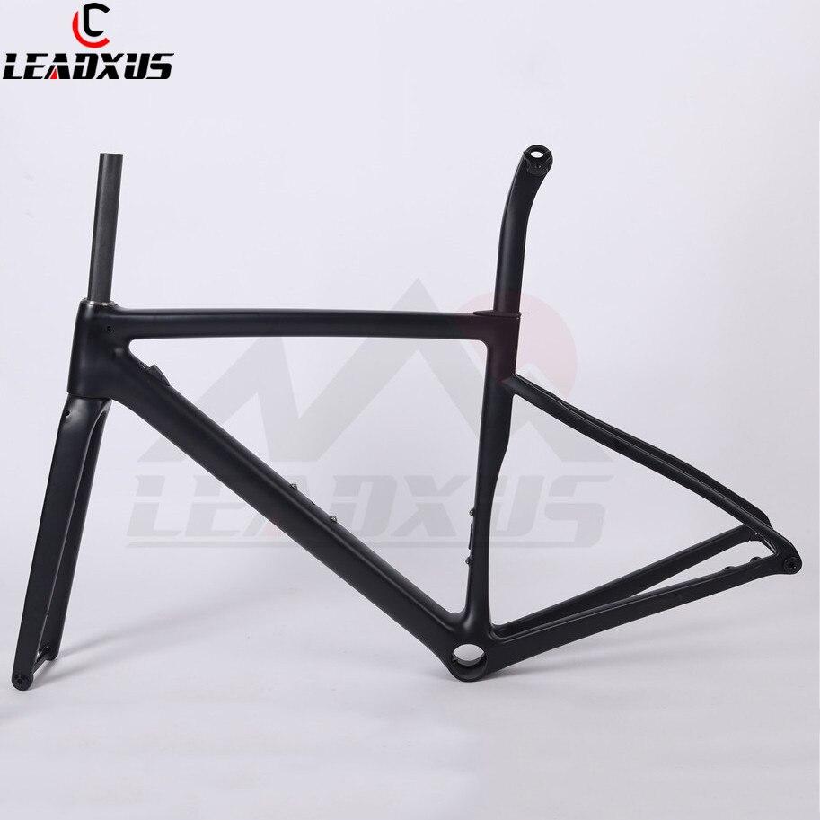 LEADXUS CLA550X Ultra Light Disc Brake Carbon Road Bike Frame T1000 Carbon Fiber Road Bicycle Frame 44/49/52/54/56/58cm
