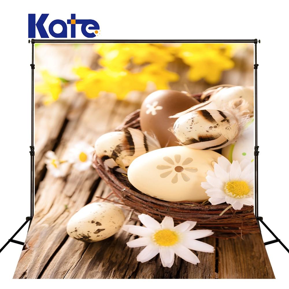 KATE 150X220CM Easter Photography Backdrops Nest Egg Flowers Fondos Fotografia Easter Day Children Backgrounds for Photo Studio easter day basket branch bunny photo studio background easter photography backdrops