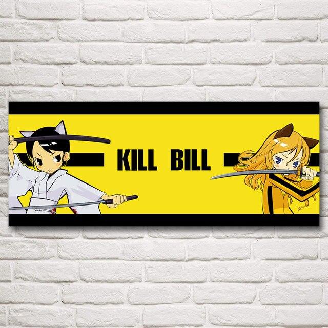 Quentin Tarantino Kill Bill Uma Thurman Anime Art Silk Movies Poster ...