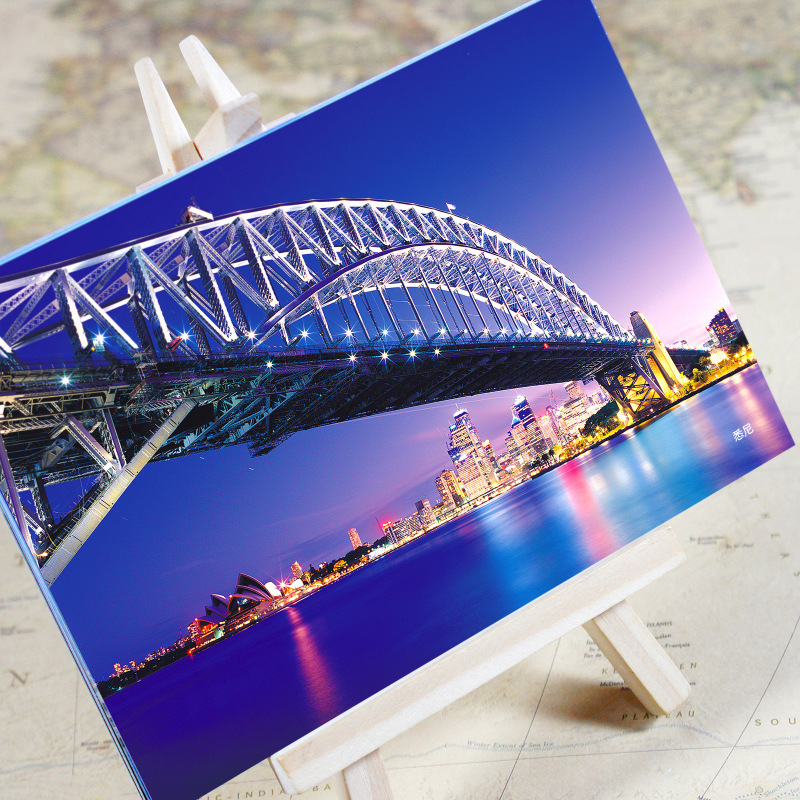 Initiative 6pcs/set charming City Series Office & School Supplies Sydney Urban Landscape Postcard /greeting Card/birthday Card/christmas Gifts Attractive Designs;