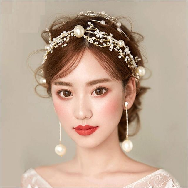 Fashion Hair Accessories for Women Simulated Pearl Headband Flowers  Hairband Haar Accessoires Unicorn Headband Girl Party SG263 524c6d9b961