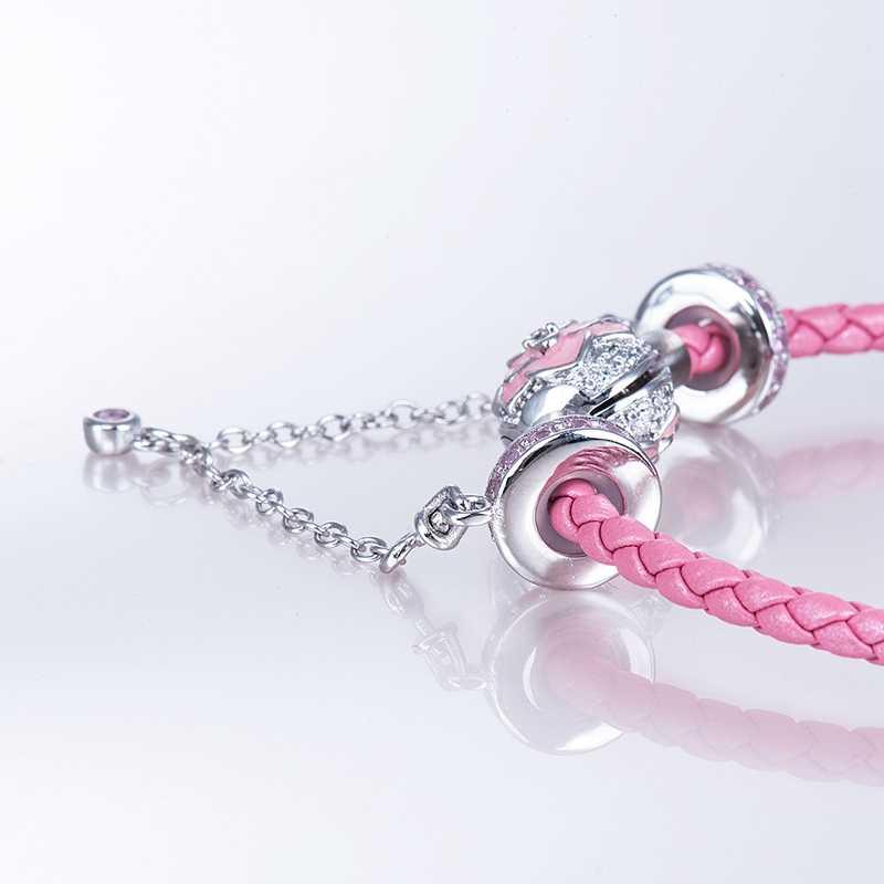 Центральная форма предотвращает потерю цепи стерлингового серебра 925 Подвески подходят браслеты AQL002