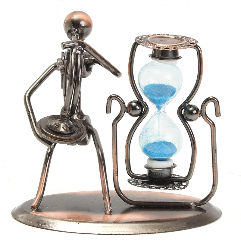 Kiwarm Fashion Metal Crafts Decorative Hourglass Sand Timer In Metal - Decorative-hourglass