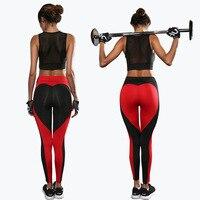 Fitness Leggings Women Sport 2017 Black Heart Design Yoga Pants Pantalon Femme Jogging Femme Trousers Women