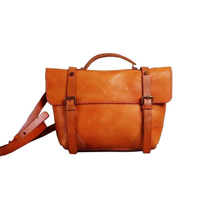 Фотография 2018 women bag genuine leather high quality messenger bags vintage crossbody