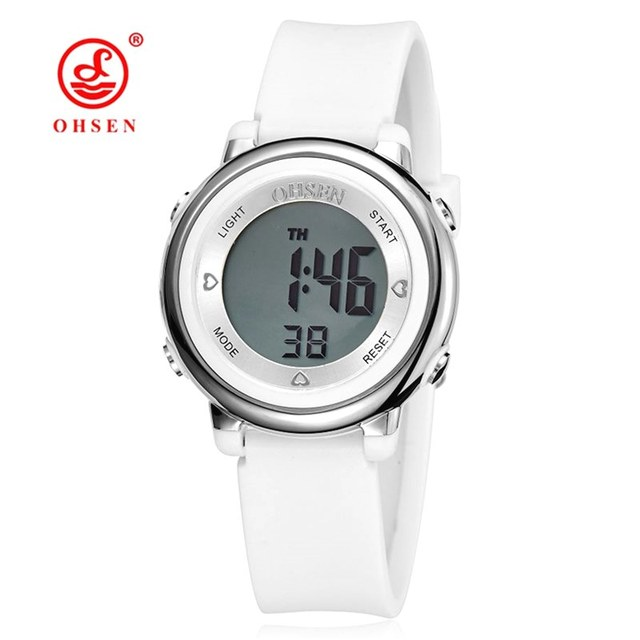 OHSEN Jelly Candy Watch Clock Woman Waterproof 50M Outdoor Digital Sports Watch