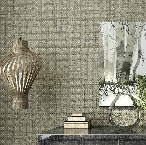 Textured grey wallpaper roll living room bedroom modern Grey wallpaper living room